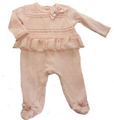 Baby Biscotti Precious in Lace Footie