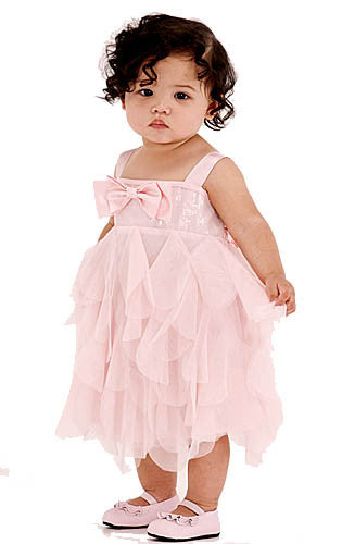 Baby Biscotti Birthday Girl Sequin & Netting Dress