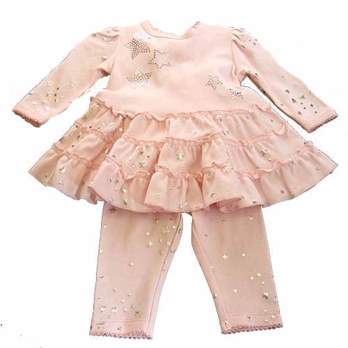 Baby Biscotti Tiny Twinkles Dress Set