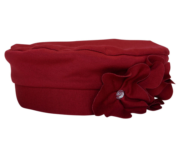 Biscotti Color Connection Red Petals Hat