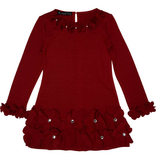 Biscotti Color Connection Red Petals Dress