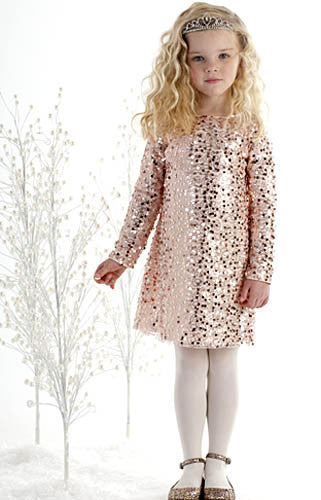 Biscotti Filigree Splendor Pink Sequin Dress