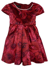 Biscotti Rose Rhapsody Print Short Sleeve Dress