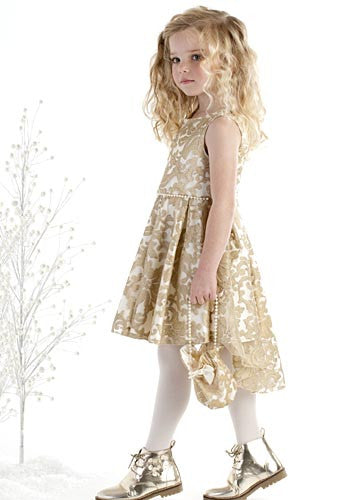 Biscotti Royal Treatment Hi-Low Gold Dress