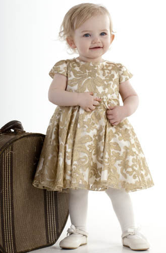 Biscotti Royal Treatment Short Sleeve Gold Dress