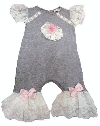 Cach Cach Heather and Lace Romper