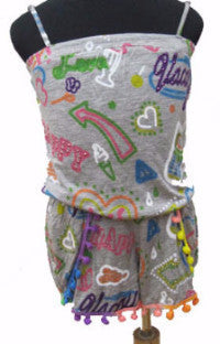 Flowers by Zoe Graffiti Romper