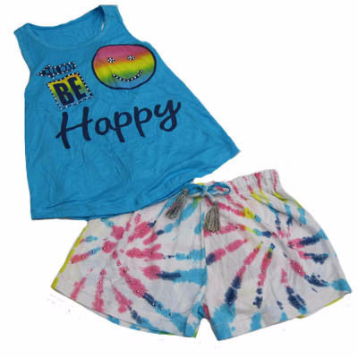 Flowers by Zoe Be Happy Tie Dye Short Set