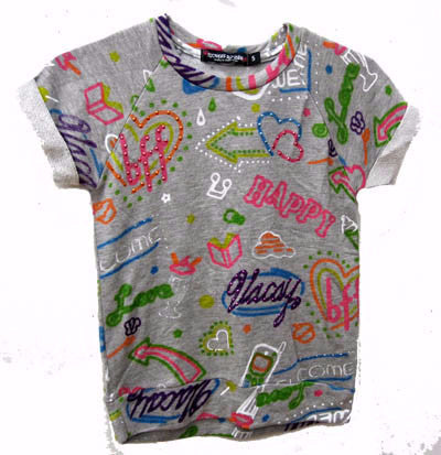Flowers by Zoe Graffiti Short Sleeve Sweatshirt
