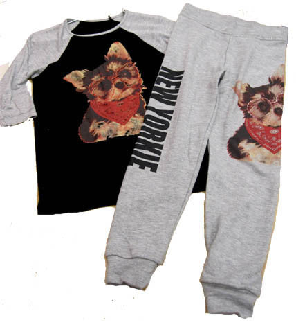 Flowers by Zoe New Yorkie Jogger Set