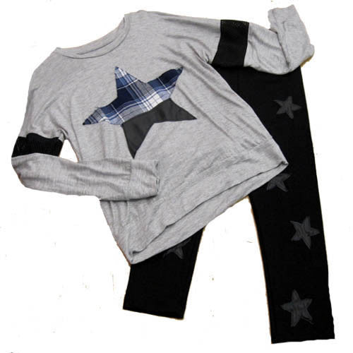 Flowers by Zoe Pleather Stars Legging Set