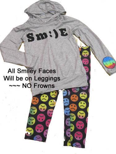 Flowers by Zoe Smile Hoodie and Emoji Leggings