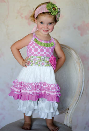 Giggle Moon Lily of the Valley Tutu Dress with Ruffle Capris