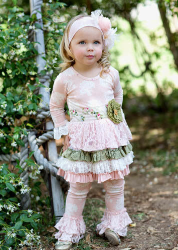 Giggle Moon Tree of Life Tutu Dress with Ruffle Leggings