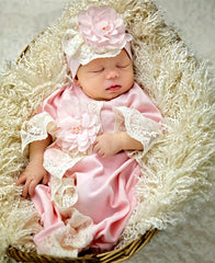 Haute Baby Chic Petit Newborn Gown and Cap