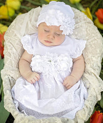 Haute Baby Ella's Bouquet Newborn Gown and Cap