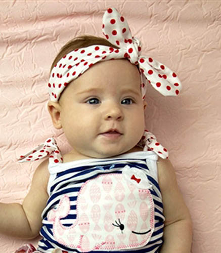 Haute Baby Whale Tale Lucy Bow Headband