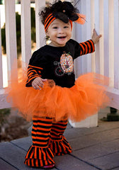 Haute Baby Pumpkin Patch Princess Tutu Set