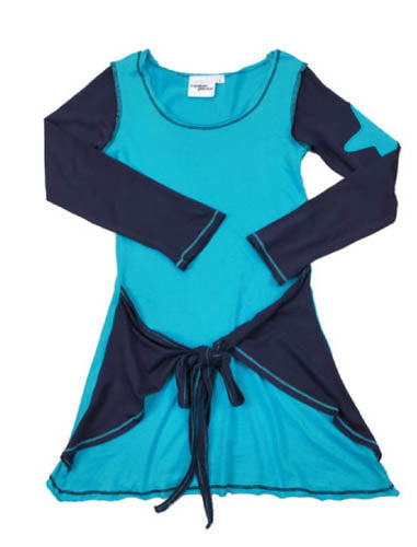 Hipster Genius Aqua/Navy Tie Dress