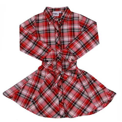 Hipster Genius Red Plaid Swing Dress