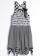 Isobella & Chloe Black and White Stripe Amelia Dress