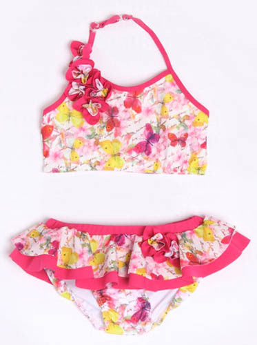 Isobella & Chloe Butterfly Kisses 2 Piece Skirted Swimsuit