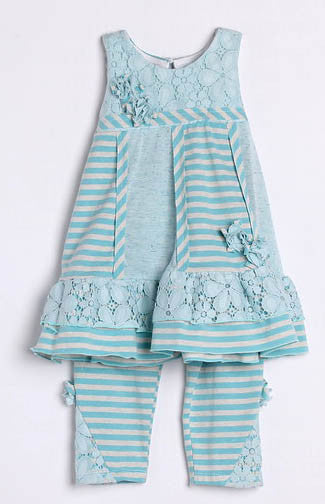 Isobella & Chloe June Bug 2 Piece Pant Set
