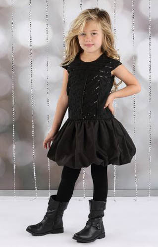 Isobella & Chloe Black Queen of Hearts Dress