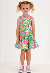 Kate Mack Island Hopping Tropical Print Scuba Dress
