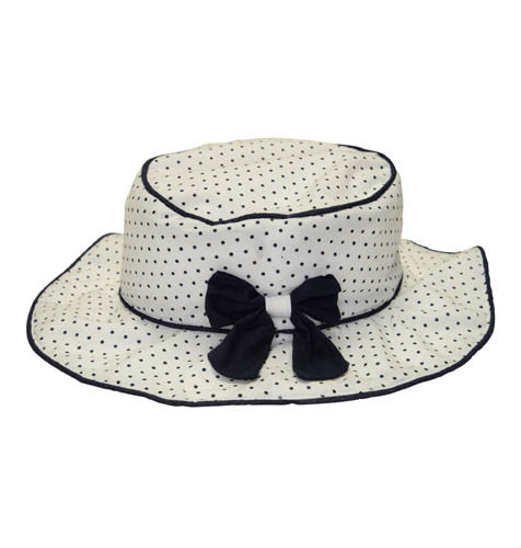 Kate Mack Making Waves Navy and White Dot Sunhat