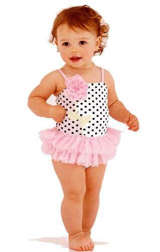 Kate Mack Polka Rose Skirted Swimsuit
