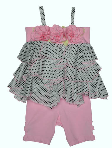 Kate Mack Polka Rose Voile Tunic & Legging Set