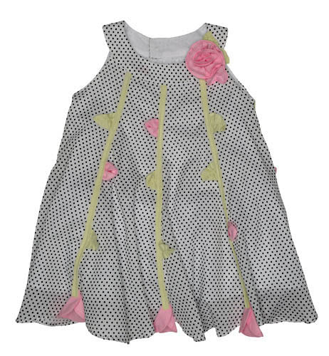 Kate Mack Polka Rose Voile Dress