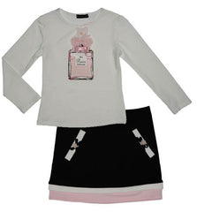 Kate Mack Tres Bien Merci Perfume Tee and Knit Skirt
