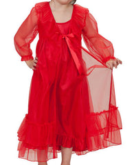 Laura Dare Frilly Red Peignoir Set