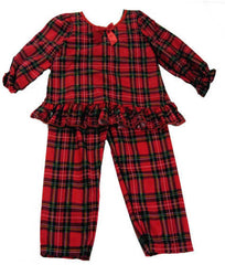 Laura Dare Dewar Tartan Plaid Holiday Ruffle Pajamas