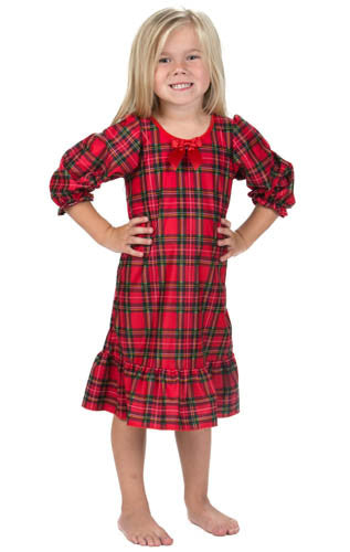 Laura Dare Dewar Tartan Plaid Christmas Nightgown