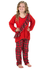 Laura Dare Dewar Tartan Plaid Vertical Ruffle Holiday Pajamas