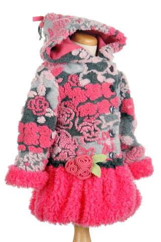 Mack & Co Monet's Garden Pink Hooded Coat