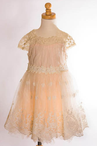 ML Kids Peach Lace Dress