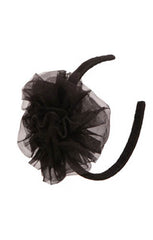 Ooh! La, La! Couture Resort Black Tulle Flower Headband