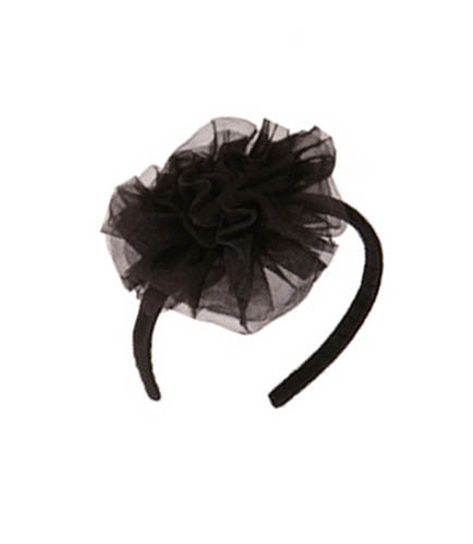 Ooh! La, La! Couture Black Tulle Flower Headband