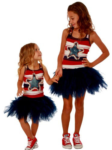 Ooh! La, La! Couture Denim Star 4th of July Dress