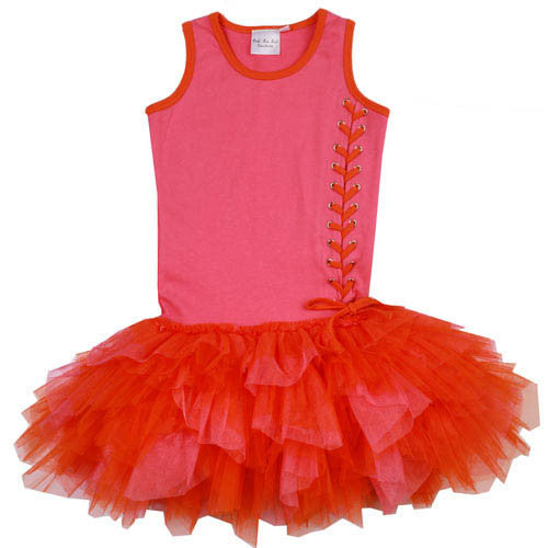 Ooh! La, La! Couture Candy Pink/Orange Lace Up Dress