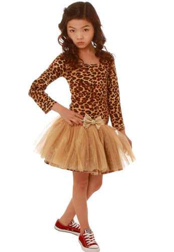 Ooh! La, La! Couture Gold and Leopard Pettiskirt Dress