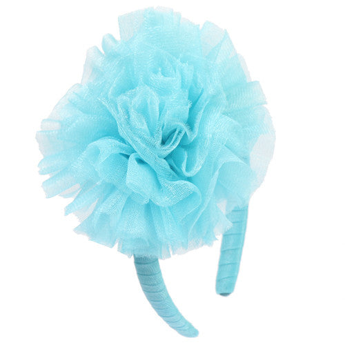Ooh! La, La! Couture Ice Blue Tulle Flower Headband