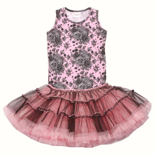 Ooh! La, La! Couture Black/Pink Toile Poufy Dress