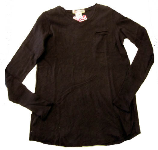 Ragdoll & Rockets Black V-Neck Pocket Tunic