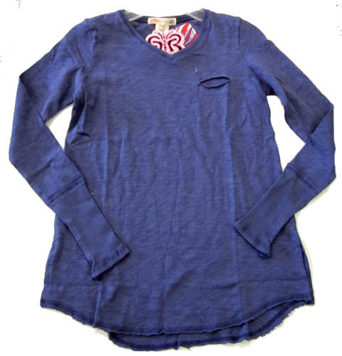 Ragdoll & Rockets Vintage Blue V-Neck Pocket Tunic