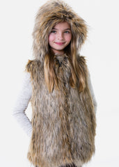 Ragdoll & Rockets Java Faux Fur Hooded Vest
